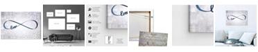 "Oliver Gal Sparkle Love Snow Canvas Art, 24"" x 16"""