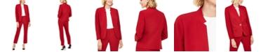 Le Suit Petite Star-Collar Pants Suit