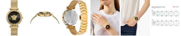 Versace Women's Swiss Palazzo Empire Greca Gold Ion-Plated Stainless Steel Mesh Bracelet Watch 37mm