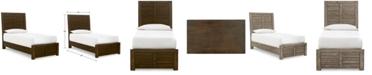 Furniture Ruff Hewn Twin Bed