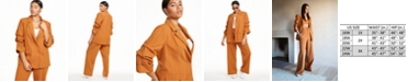 Danielle Bernstein Plus Size Blazer with Ruched Sleeves, Created for Macy's