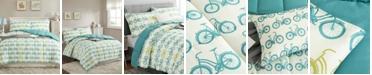 UNIKOME Printed Reversible Down Alternative Year Round 2-Piece Comforter Set, Twin