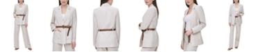 Calvin Klein Linen Belted Blazer