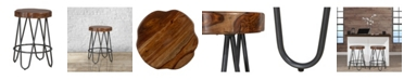 Hillsdale Pembra Backless Counter Height Stool with Wood Seat