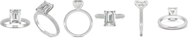 Charles & Colvard Moissanite Emerald-Cut Engagement Ring (2-7/8 ct. t.w. DEW) in 14k White Gold