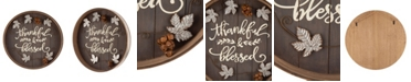 """Glitzhome 17.83"""" Fall Wooden Tray Hanging Decor"""