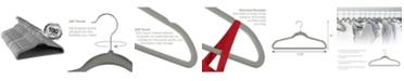Elama 100-Pc. Velvet Hanger Set