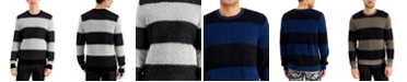 INC International Concepts INC Men's Fuzzy Striped Sweater, Created for Macy's