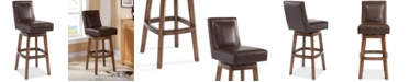 "Furniture Wayne 30"" Faux Leather Swivel Bar Stool, Quick Ship"