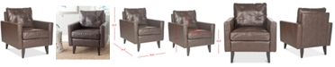 Safavieh Olden Faux Leather Accent Chair, Quick Ship
