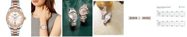 Tissot Women's Swiss PR 100 Sport Chic T-Classic Diamond-Accent Two-Tone Stainless Steel Bracelet Watch 36mm