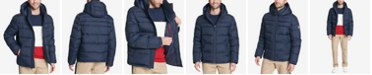 Tommy Hilfiger Men's Big & Tall Quilted Hooded Puffer Jacket, Created for Macy's
