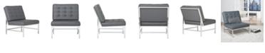 Studio Designs Home Ashlar Bonded Leather Side Chair