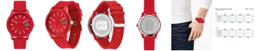 Lacoste Men's 12.12 Red Silicone Strap Watch 42mm