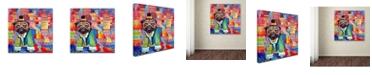 """Trademark Global Oxana Ziaka 'Pug' Canvas Art - 14"""" x 14"""" x 2"""""""