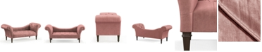 """Martha Stewart Collection Skylands Collection Logan Tufted 72"""" Chaise Lounge, Quick Ship, Created for Macy's"""