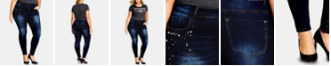 City Chic Trendy Plus Size Harley Dazzle Jeans