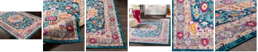 """Abbie & Allie Rugs Morocco MRC-2302 Teal 18"""" Area Rug Swatch"""