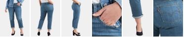 Levi's Plus Size Cuffed Boyfriend Jeans