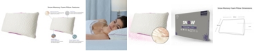 Protect-A-Bed Queen Therm-A-Sleep Snow Memory Foam Medium Pillow ft. Nordic Chill Fiber and Tencel