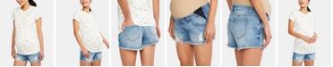 A Pea in the Pod Maternity Denim Shorts