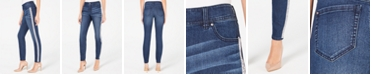 INC International Concepts INC Petite Embellished-Stripe Skinny Jeans, Created for Macy's