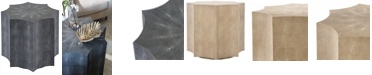 Furniture Napa Faux Shagreen End Table, Quick Ship