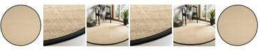 Safavieh Natural Fiber Beige and Black 6' x 6' Sisal Weave Round Area Rug