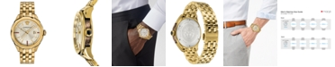 Versace Men's Swiss Glaze Gold-Tone Stainless Steel Bracelet Watch 43mm