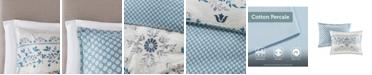 JLA Home Madison Park Eden Full/Queen 3 Piece Cotton Printed Reversible Duvet Cover Set