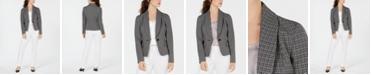 Le Suit Shawl-Lapel Printed-Jacket Pant Suit