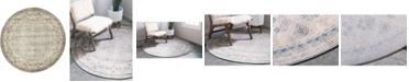 Bridgeport Home Bellmere Bel1 Gray 5' x 5' Round Area Rug