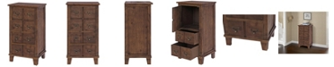 Gallerie Decor Catalog Two Drawer One Door Chest, Quick Ship