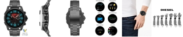 Diesel Men's Full Guard 2.5 Gunmetal Stainless Steel Bracelet Touchscreen Smart Watch 48mm, Powered by Wear OS by Google™