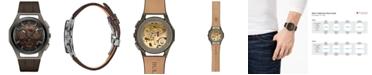 Bulova Men's Chronograph Curv Progressive Sport Brown Leather Strap Watch 44mm