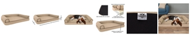 "PetMaker Orthopedic Pet Sofa Bed with Memory Foam and Foam Stuffed Bolsters 42"" x 28"" x 8.5 """