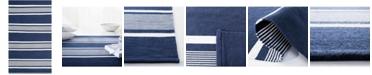 Lauren Ralph Lauren Hanover Stripe LRL2461A Navy 5' X 8' Area Rug
