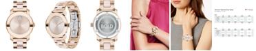 Movado BOLD Women's Swiss Blush Ceramic & Carnation Gold-Tone Stainless Steel Bracelet Watch 36mm