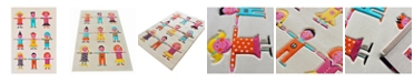 "IVI  Kids Multi-color Soft Nursery Rug with a Playful Design for Kids Bedrooms and Playrooms, Non-Toxic, Hypo-Allergnic, 72""L x 53""W Playmat"