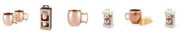 Twine Moscow Mule Mugs, Shot Glass Size - Set of 2