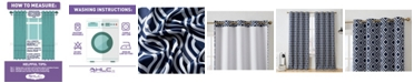 """HLC.me Obscura By Albany Blackout Grommet Curtain Panels - 52"""" W X 96"""" L - Set of 2"""