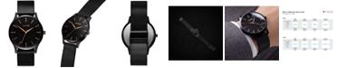 MVMT Men's The 40 Black Stainless Steel Mesh Bracelet Watch 40mm