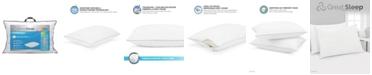 Great Sleep Twice Cool Premium Memory Foam Core King Pillow