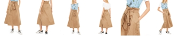 Weekend Max Mara Cotton Belted Utility Skirt