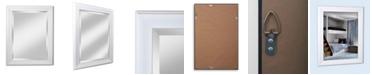 """Reveal Frame & Decor Alpine Lakeside White 21"""" x 27"""" Beveled Wall Mirror"""