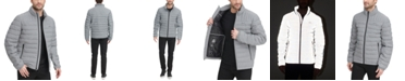 DKNY Men's Quilted Pearlized Nylon Classic Packable Jacket, Created For Macy's