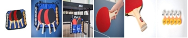 JOOLA Family Table Tennis Set Includes 4 Spirit Rackets, 10 Balls Carrying Case