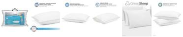 Great Sleep Twice Cool Premium Adjustable Foam Cluster King Pillow