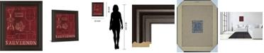 "Classy Art Wine Blueprint IV by Marco Fabiano Framed Print Wall Art, 22"" x 26"""