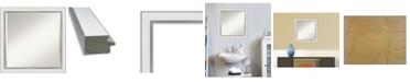 "Amanti Art Eva Silver-tone Framed Bathroom Vanity Wall Mirror, 23.12"" x 23.12"""